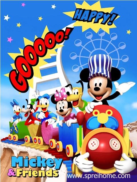 jual grosir murah selimut bayi rosanna Mickey-and-Friends