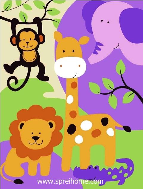 jual grosir murah selimut bayi rosanna Animal1