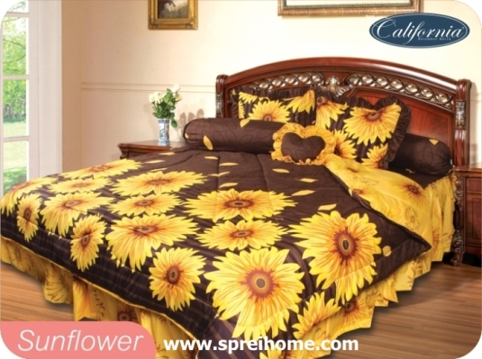grosir murah Sprei California sunflower