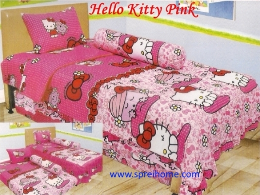 grosir murah Sprei Lady Rose Hello Kitty Pink