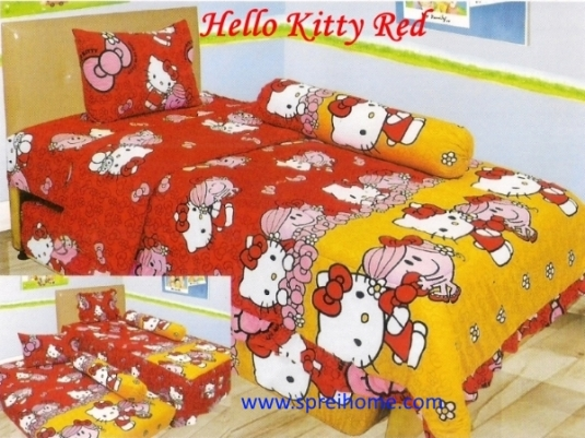 grosir murah Sprei Lady Rose Hello Kitty Red
