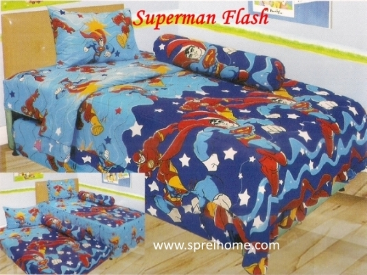 grosir murah Sprei Lady Rose Superman Flash