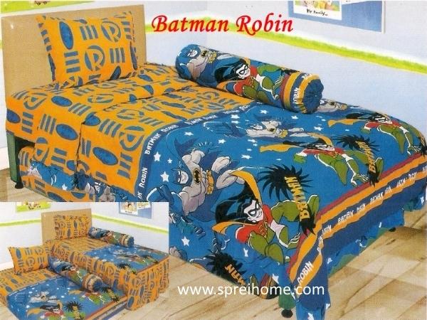 grosir murah  Sprei Lady Rose Batman Robin
