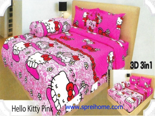 07-sprei-lady-rose-hello-kitty-pink