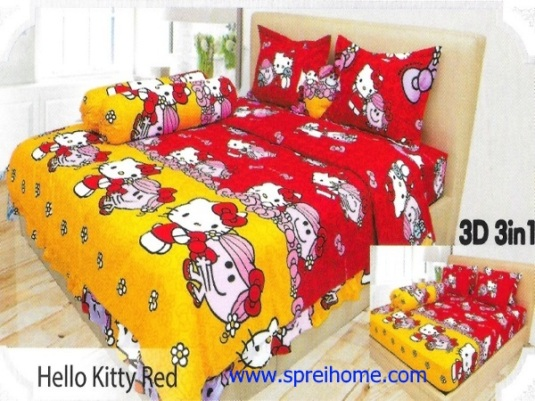 08-sprei-lady-rose-hello-kitty-red