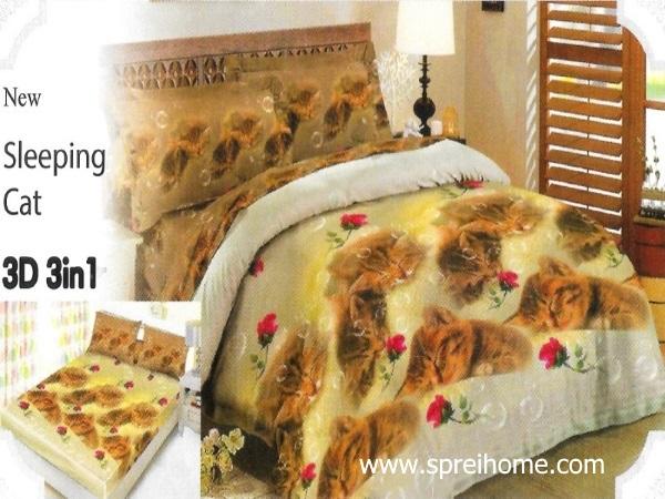 24-sprei-lady-rose-sleeping-cat