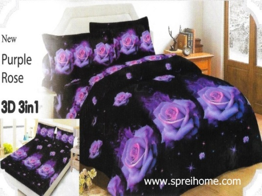 29-sprei-lady-rose-purple-rose