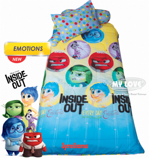 jual sprei my love anak motif karakter emoticon