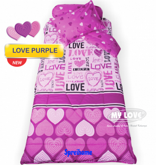jual sprei my love anak motif karakter love purple