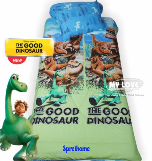 jual sprei my love anak motif karakter good dinosaurus