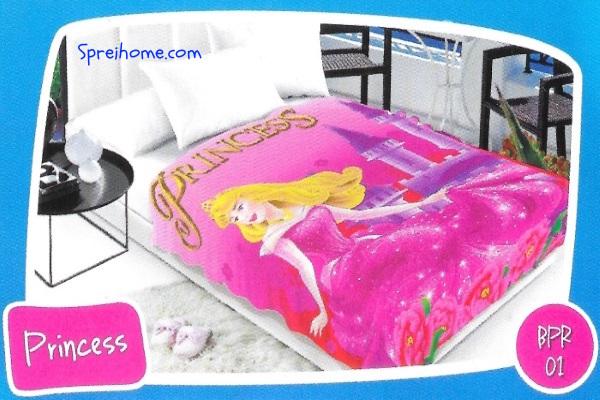 selimut bulu halus lembut blossom motif princess