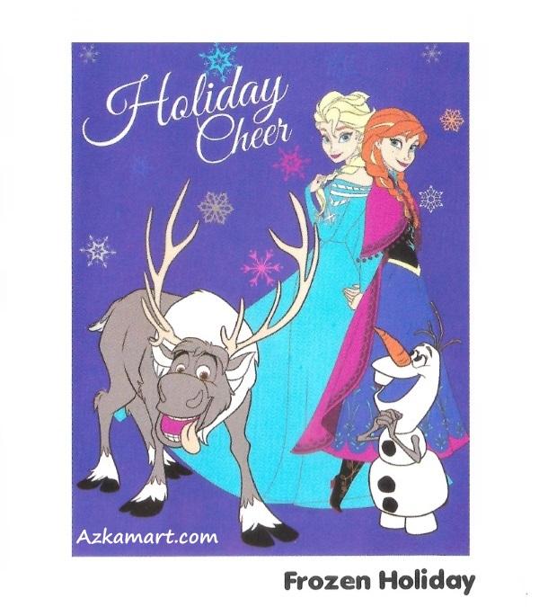 jual beli selimut internal karakter anak frozen holiday