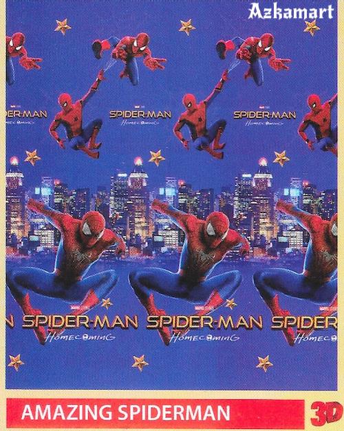 jual beli selimut bulu halus lembut paulina gambar spiderman