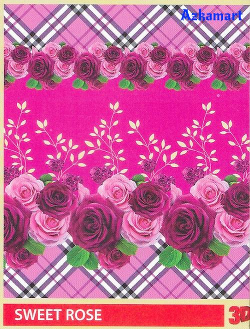 jual beli selimut bulu halus lembut paulina gambar sweet rose