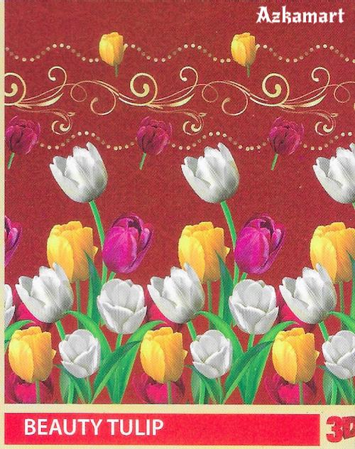 jual beli selimut bulu halus lembut paulina gambar bunga tulip
