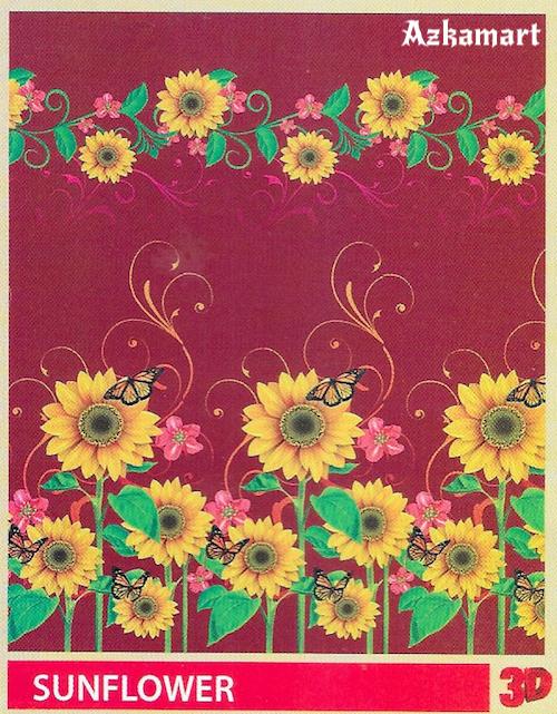 jual beli selimut bulu halus lembut paulina gambar sunflower