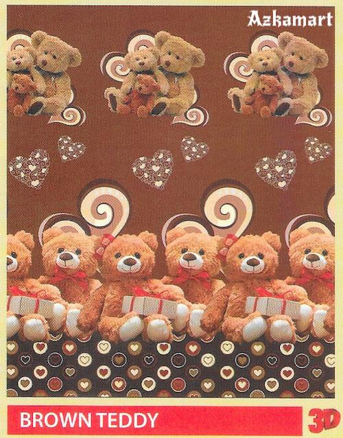 jual beli selimut bulu halus lembut paulina gambar teddy coklat