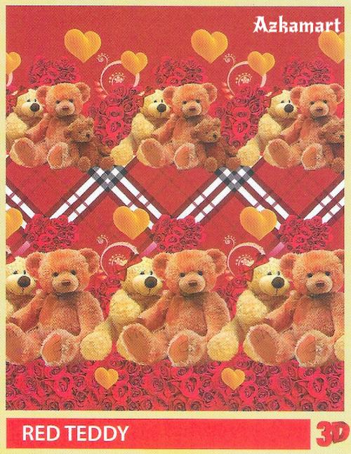 jual beli selimut bulu halus lembut paulina gambar red teddy
